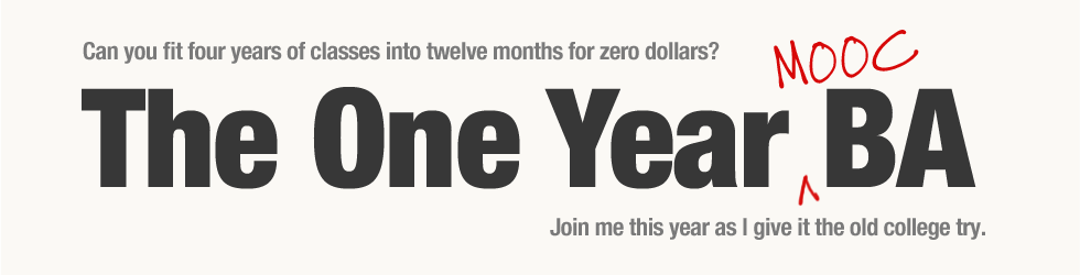 The One Year (MOOC) BA